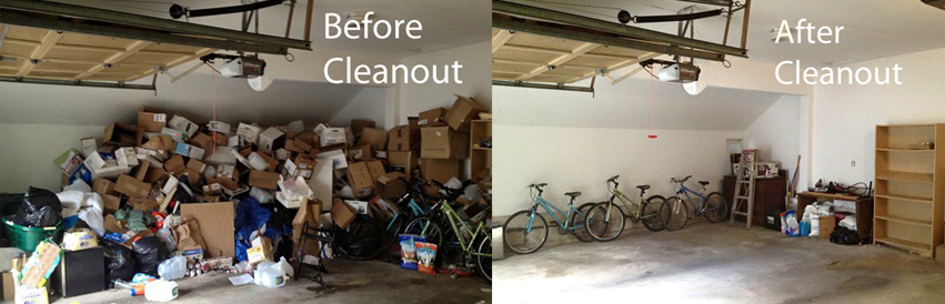 Cleanout Before and After
